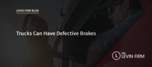Trucks Can Have Defective Brakes